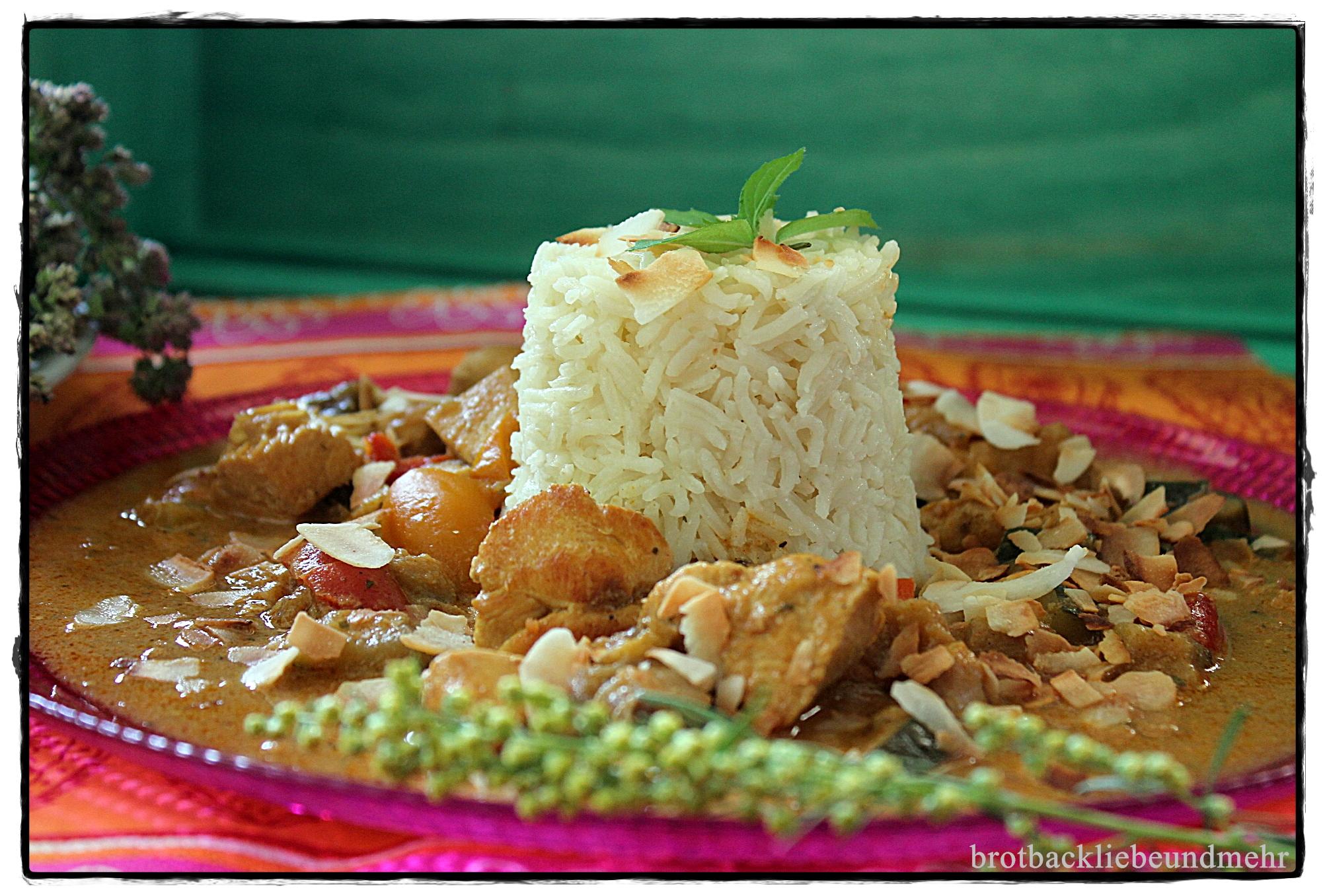 Indisches Kokos-Hähnchen-Curry