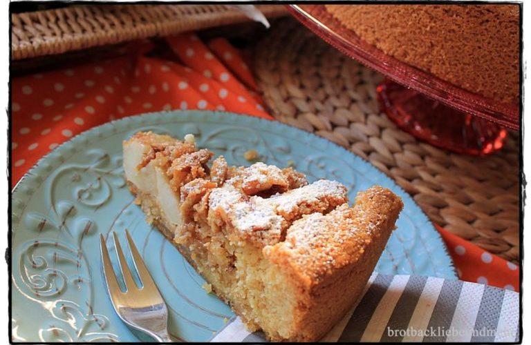 Apfelkuchen mit karamelisierten Walnüssen