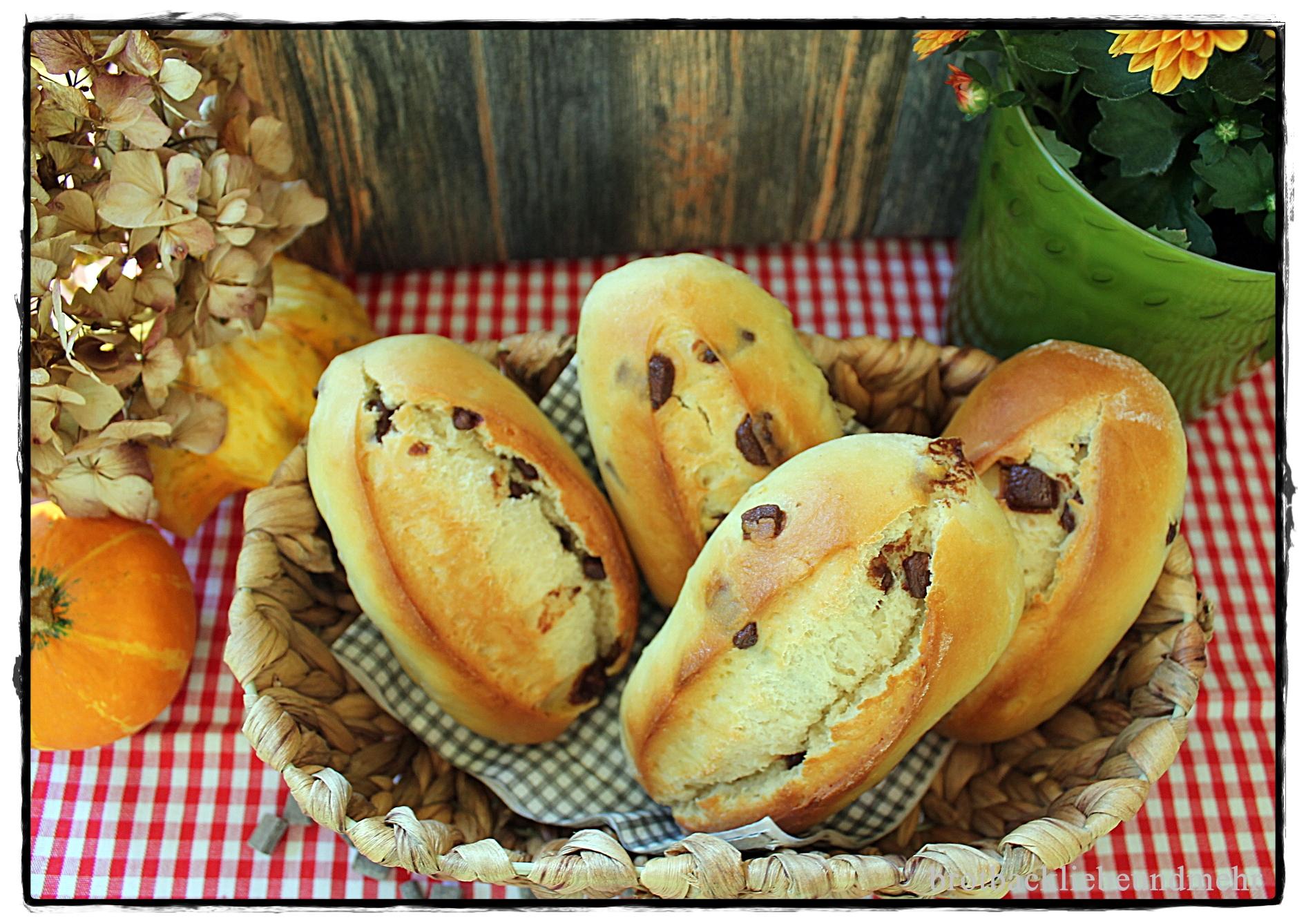 Süße Schokoladen-Brötchen