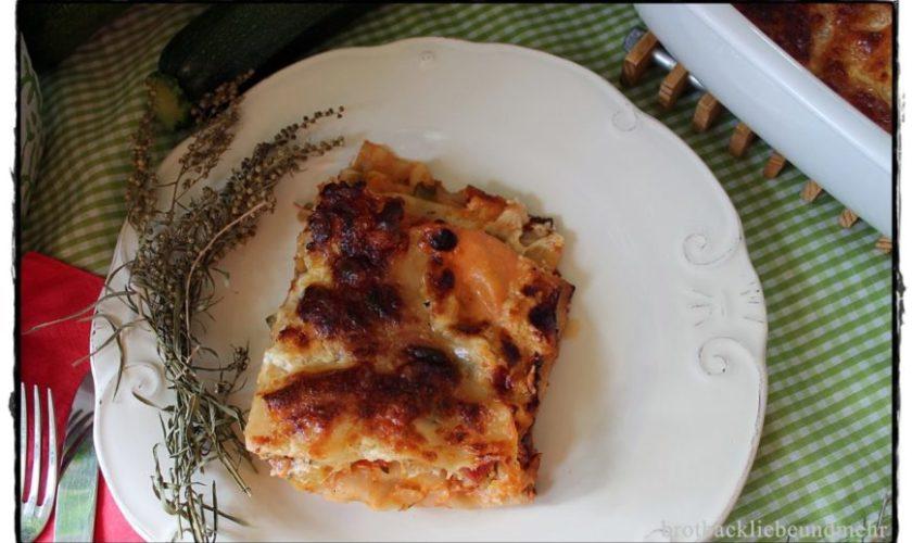 Zucchini-Schinken-Lasagne al Forno