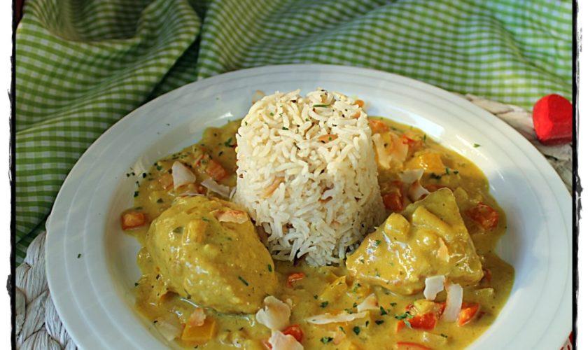 Mais-Hähnchenbrust in Curryrahm