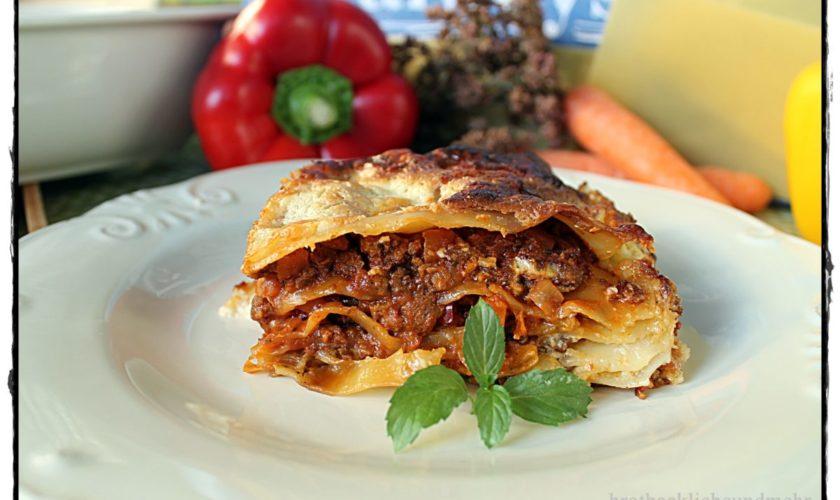 Lasagne con Carne e Verdure