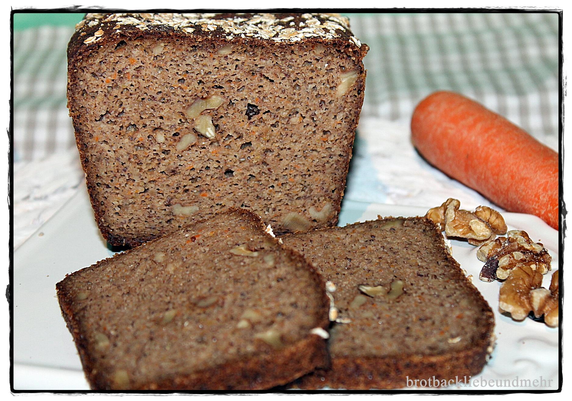 Walnuss Karottenbrot Glutenfrei Brotbackliebe Undmehr