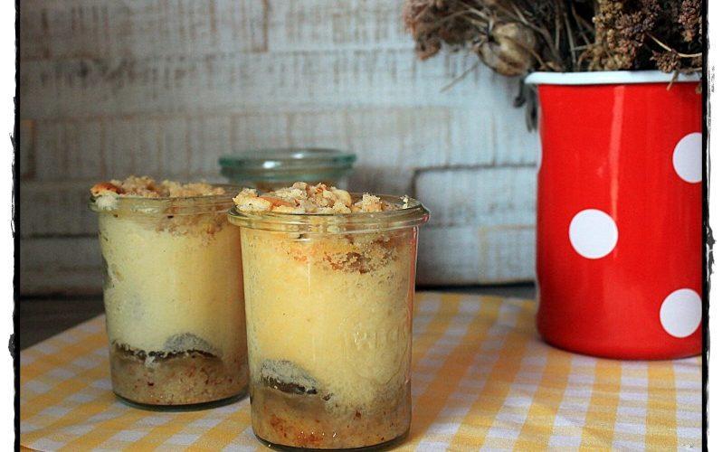 Käse-Streusel-Kuchen im Glas