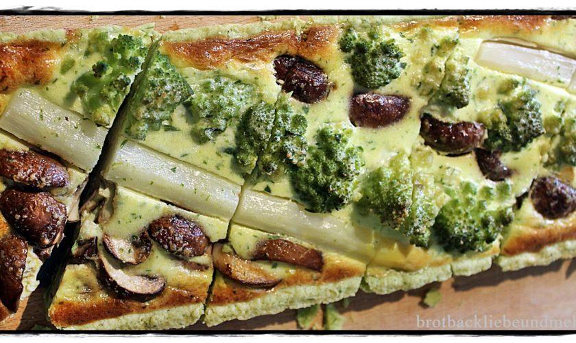 Gemüse-Bärlauch-Quiche mit Bärlauchteig