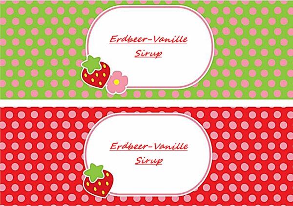 Erdbeer-Sirup