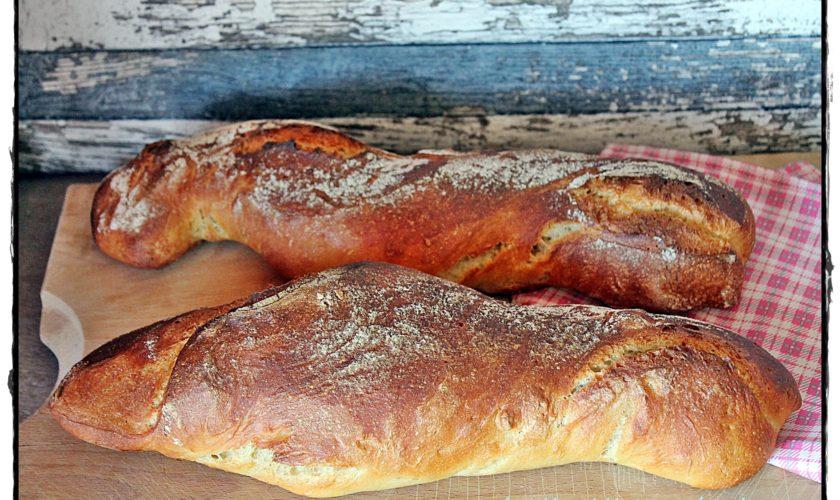 Dinkel-Wurzel-Baguette mit langer Teiggare
