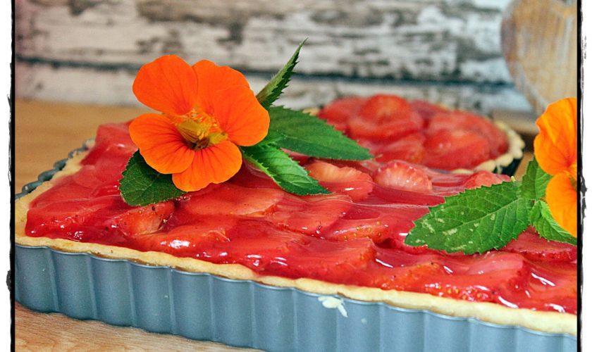 Erdbeer-Käsekuchen-Tarte