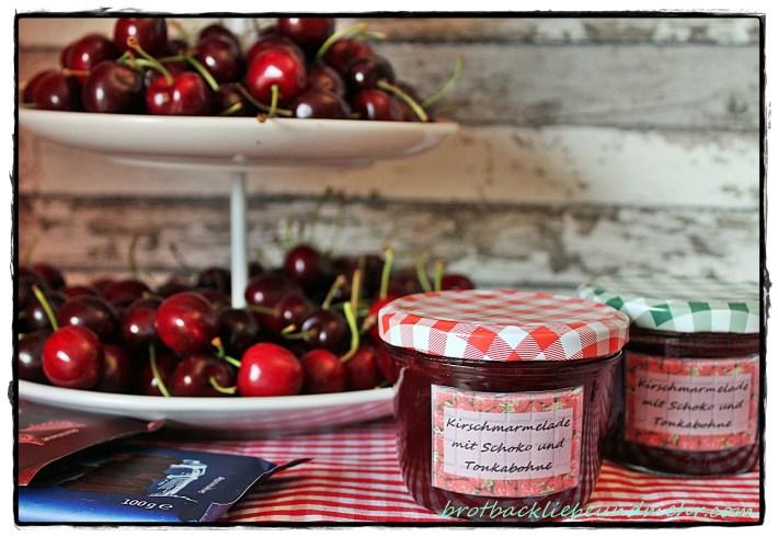 Kirsch-Marmelade mit Schoko und Tonkabohne