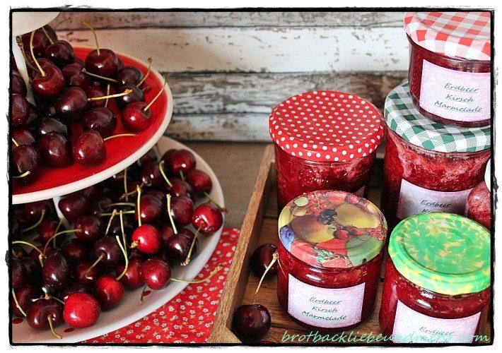 Erdbeer-Kirsch-Marmelade