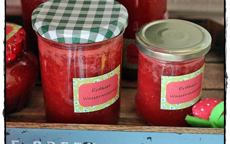 Erdbeer-Wassermelonen-Marmelade