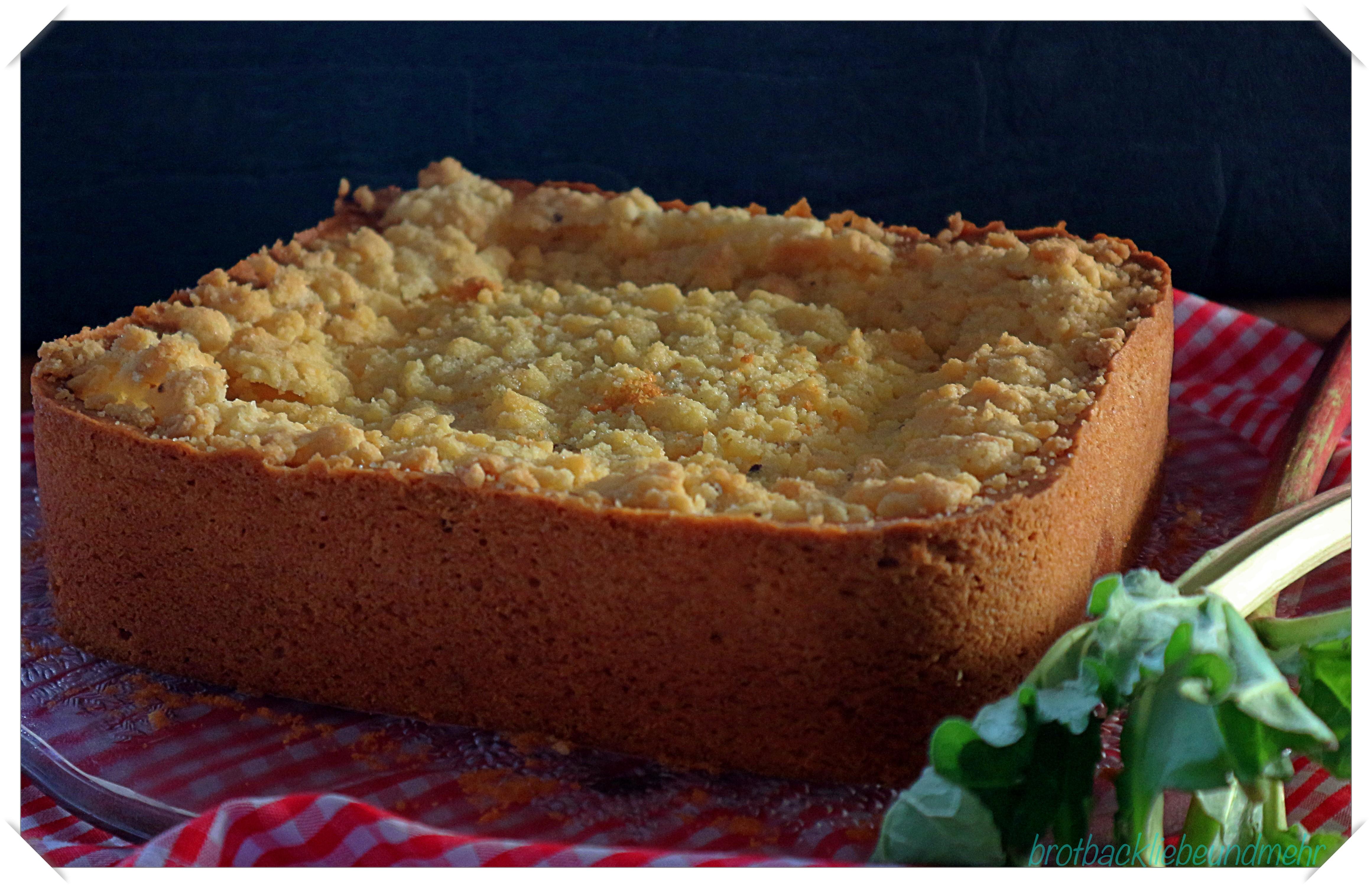 Rhabarber Quark Kuchen Mit Streuseltopping Brotbackliebe Undmehr
