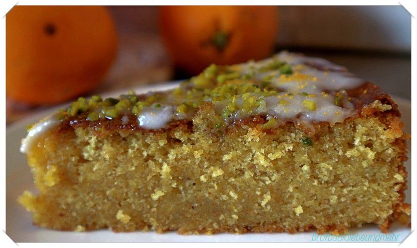 Italienischer Tarocco-Orangen-Kuchen