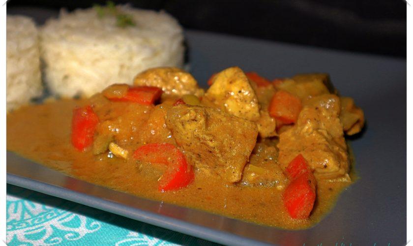 Butter-Chicken mit Gemüse und Basmatireis