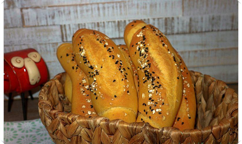 Knollen-Stangen mit Süßkartoffelpüree