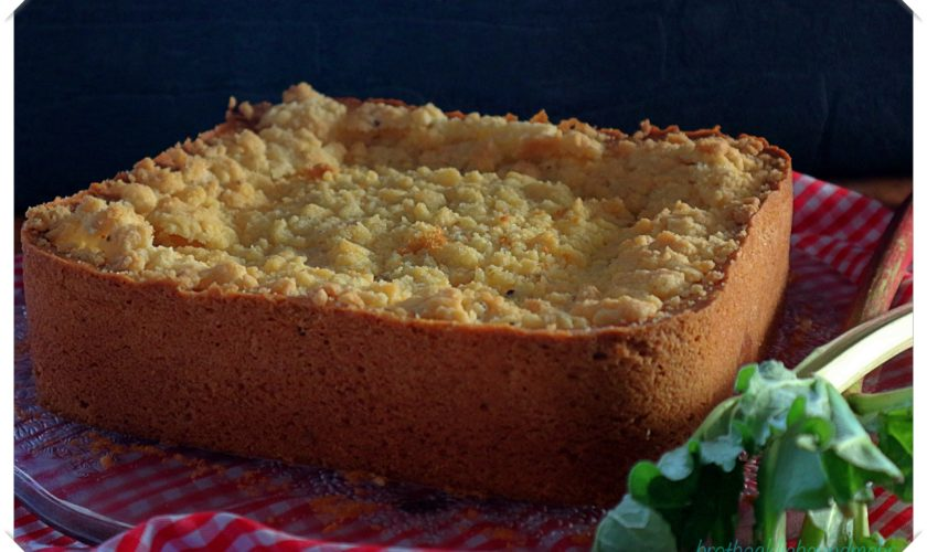 Rhabarber-Quark-Kuchen mit Streuseltopping