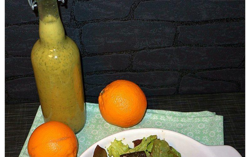Orangen-Dressing auf Vorrat