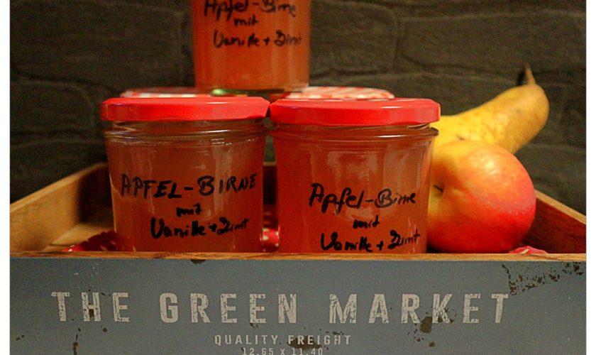 Apfel-Birnen-Gelee mit Vanille und Zimt