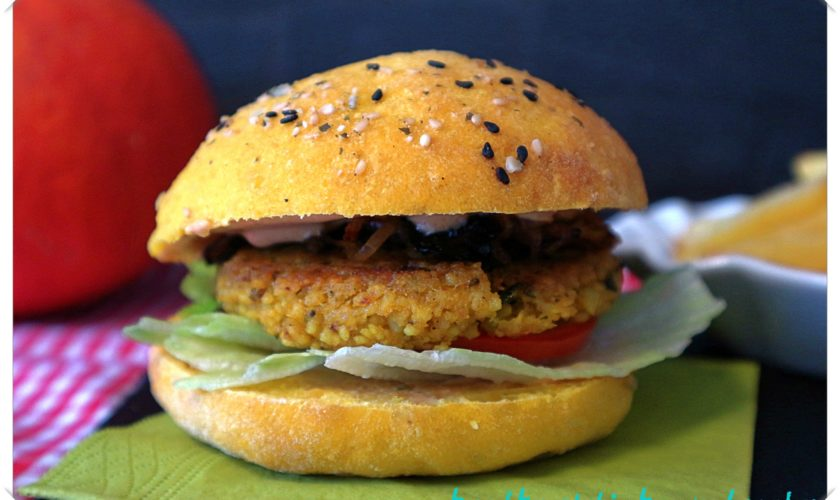 Cous-Cous Hamburger mit Kürbis-Buns und Hamburger-Soße