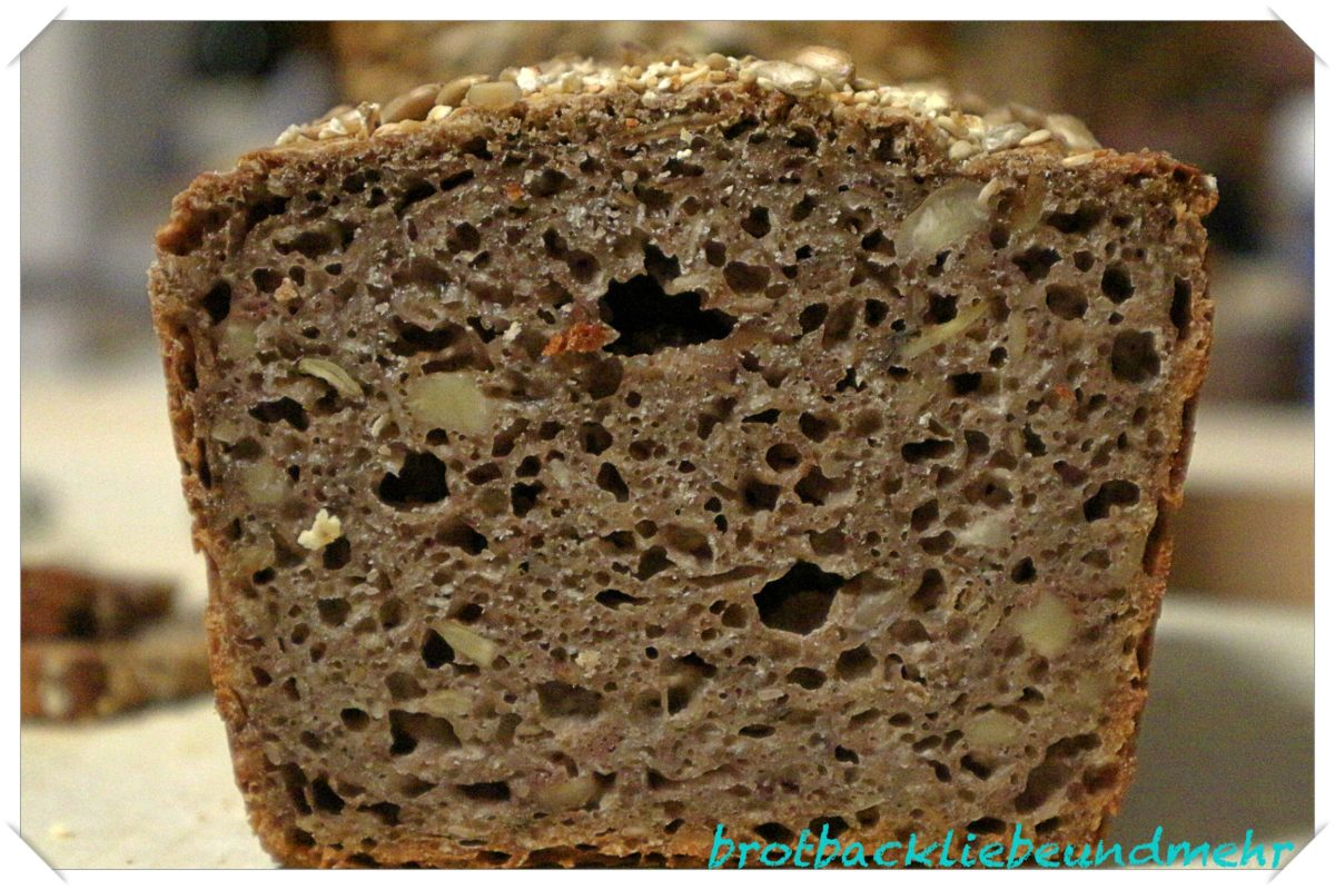 Foto 3 - Glutenfreies Sauerteigbrot mit Saaten und Nüssen - Anschnitt
