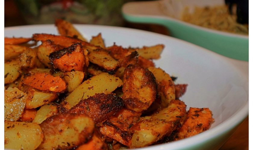 Krosse Kartoffelecken aus dem Backofen