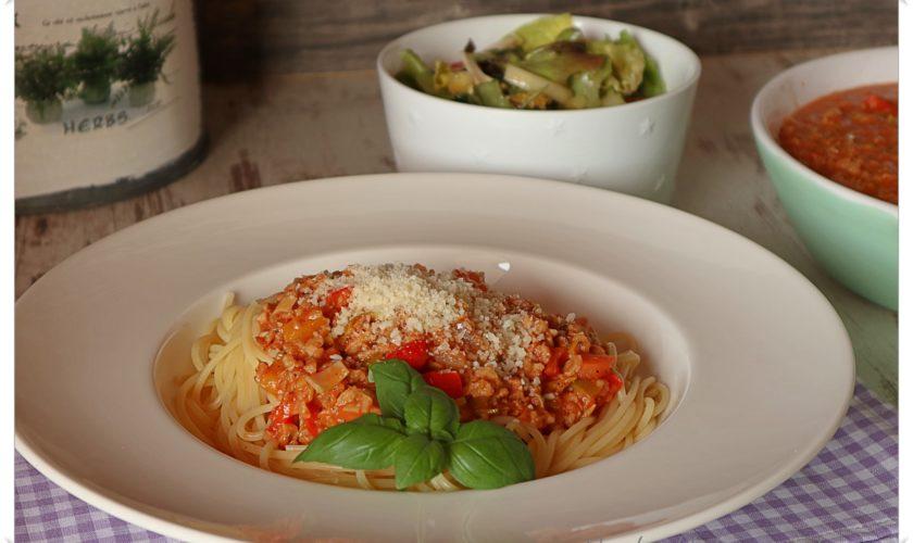 Vegetarische Soja-Bolognese
