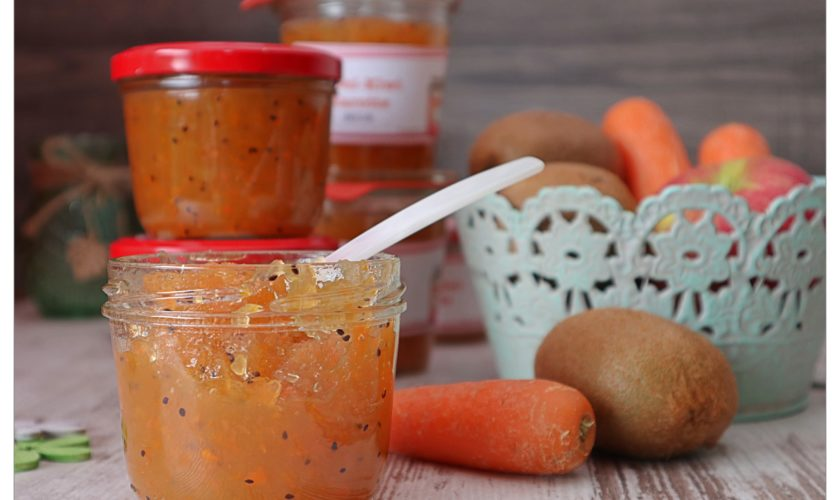 Apfel-Kiwi-Karotten-Marmelade